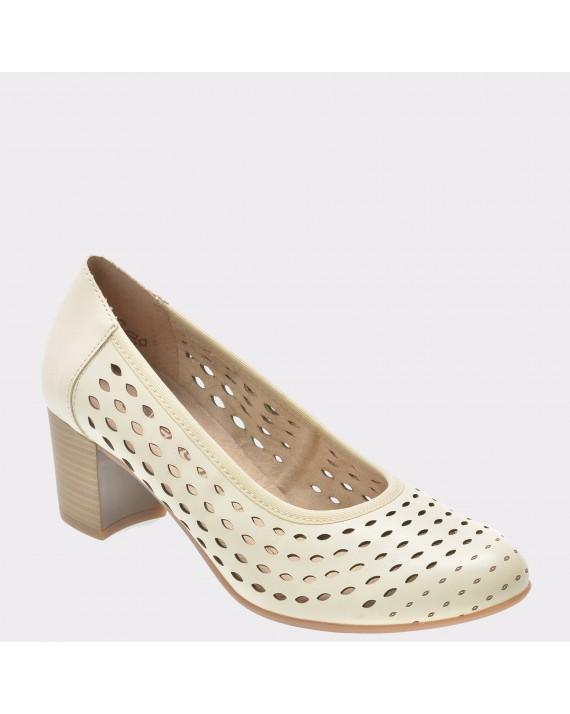 Pantofi REMONTE crem, D0824, din piele naturala