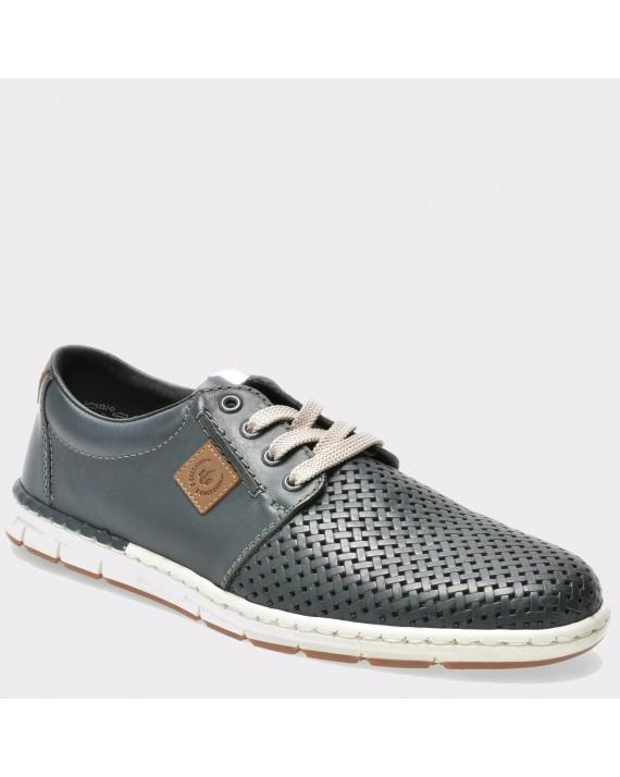 Pantofi RIEKER bleumarin, 18938, din piele naturala