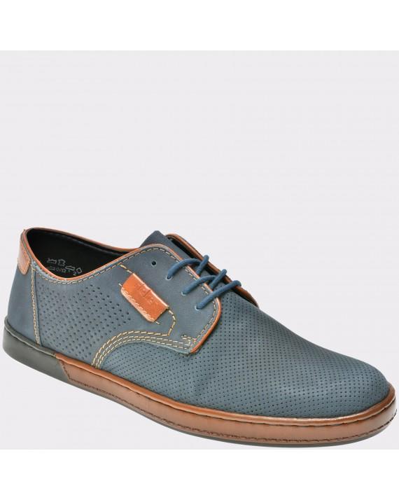 Pantofi RIEKER bleumarin, B2820, din piele naturala