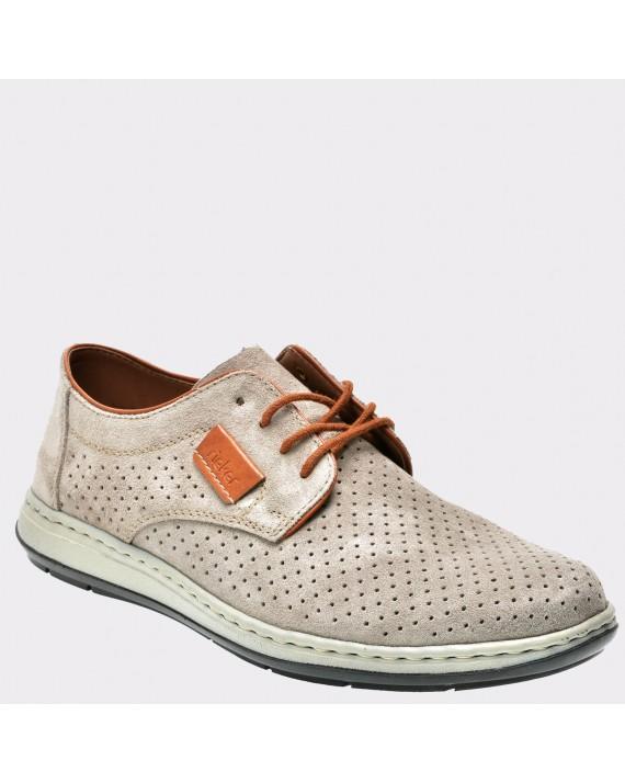 Pantofi RIEKER gri, 17325, din piele intoarsa