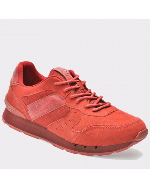 Pantofi sport BUGATTI rosii, 30802, din nabuc