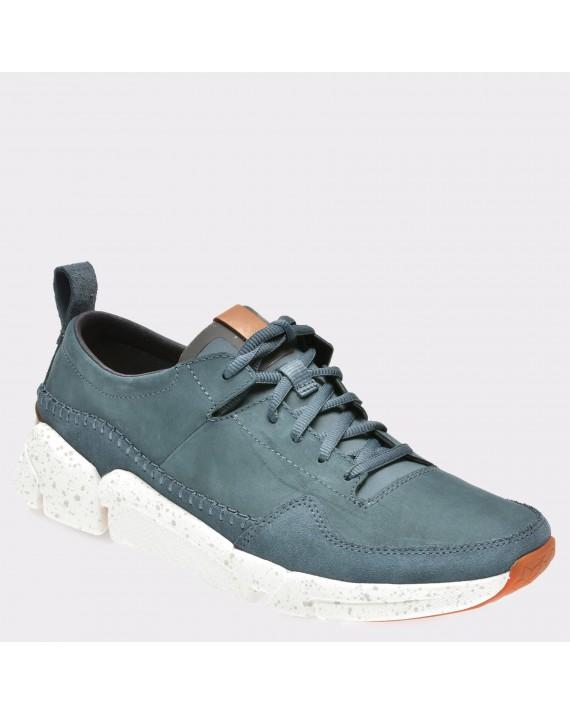 Pantofi sport CLARKS albastri, 6132275, din nabuc
