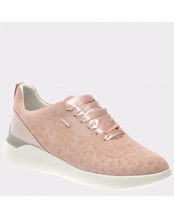 Pantofi sport GEOX roz, D828Sc, din piele intoarsa