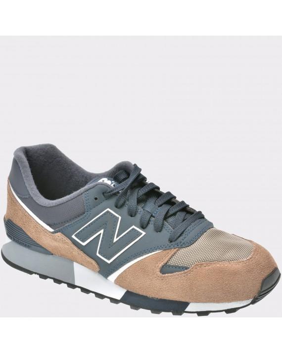 Pantofi sport NEW BALANCE bleumarin, U446, din material textil si piele naturala