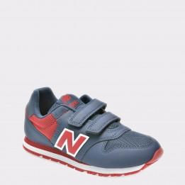 Pantofi sport pentru copii NEW BALANCE bleumarin, Kv500, din piele ecologica