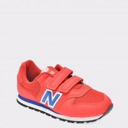 Pantofi sport pentru copii NEW BALANCE rosii, Kv500, din piele ecologica
