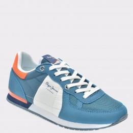 Pantofi sport pentru copii PEPE JEANS bleumarin, Bs30344, din piele naturala