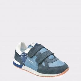 Pantofi sport pentru copii PEPE JEANS bleumarin, Bs30351, din material textil