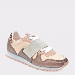 Pantofi sport PEPE JEANS maro, Ls30624, din material textil