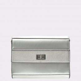 Poseta MARINA GALANTI argintie, 2391, din piele ecologica