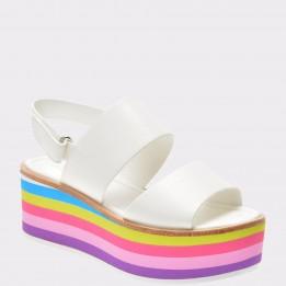 Sandale ALDO albe, Abaede, din piele ecologica
