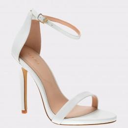 Sandale ALDO albe, Caraa, din piele ecologica