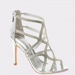 Sandale ALDO argintii, Asteicia, din piele ecologica