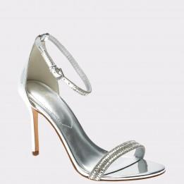 Sandale ALDO argintii, Ciasa, din piele ecologica