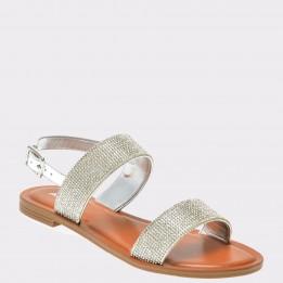 Sandale ALDO argintii, Hyginius, din piele ecologica