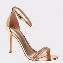 Sandale ALDO aurii, Ciasa, din piele ecologica