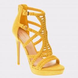 Sandale ALDO galbene, Porella, din material textil