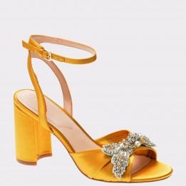 Sandale ALDO galbene, Sansperate, din material textil