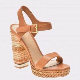 Sandale ALDO maro, Huglag, din piele naturala