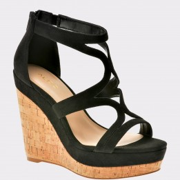 Sandale ALDO negre, Trevico, din piele ecologica