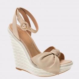 Sandale ALDO nude, Besch, din piele naturala
