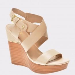 Sandale ALDO nude, Faustina, din piele naturala