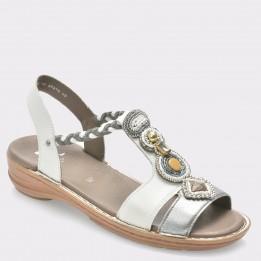 Sandale ARA albe, 37275, din piele naturala