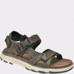 Sandale CLARKS maro, 6132629, din nabuc