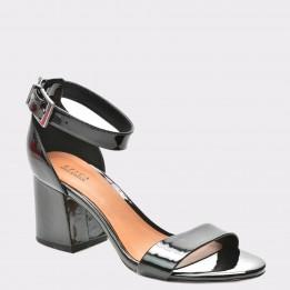 Sandale EPICA negre, 3330001, din piele naturala lacuita