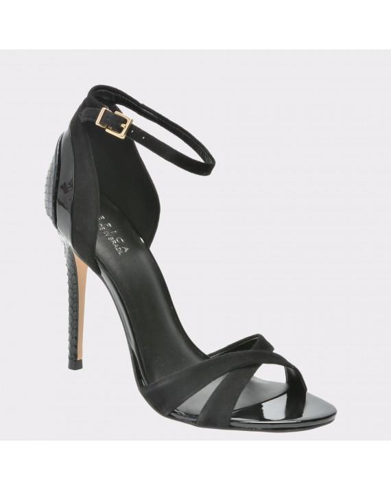 Sandale EPICA negre, 73305, din piele intoarsa
