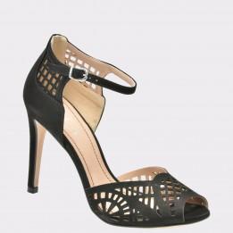 Sandale EPICA negre, 87633, din nabuc