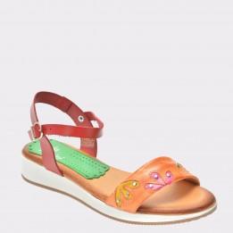 Sandale FLAVIA PASSINI portocalii, 419Es25, din piele naturala