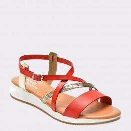 Sandale FLAVIA PASSINI rosii, 1171Es6, din piele naturala
