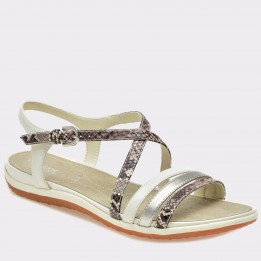 Sandale GEOX albe, D62R6C, din piele naturala