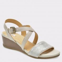 Sandale GEOX albe, D828Qa, din piele ecologica