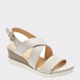 Sandale GEOX crem, D828Ab, din piele naturala
