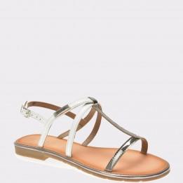 Sandale IMAGE albe, Pb18414, din piele ecologica