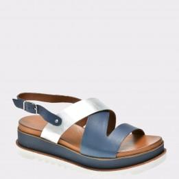 Sandale IMAGE bleumarin, 8920, din piele naturala