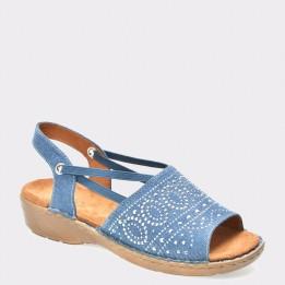 Sandale JENNY by ARA albastre, 57262, din material textil
