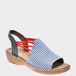 Sandale JENNY by ARA albastre, 57283, din material textil