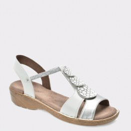 Sandale JENNY by ARA albe, 57287, din piele ecologica