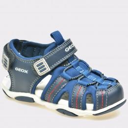 Sandale pentru copii GEOX albastre, B821Af, din material textil