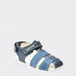 Sandale pentru copii GEOX albastre, B821Va, din piele naturala