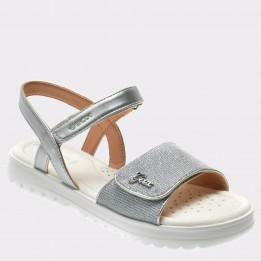 Sandale pentru copii GEOX argintii, J826Eg, din piele ecologica