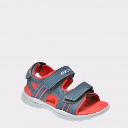 Sandale pentru copii GEOX bleumarin, J826Yb, din piele ecologica