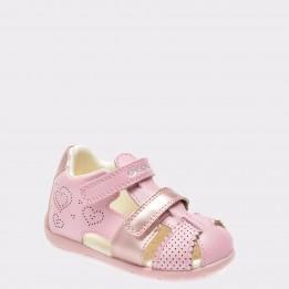 Sandale pentru copii GEOX roz, B8251C, din piele naturala