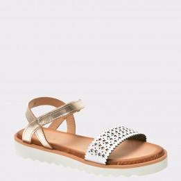 Sandale pentru copii IMAGE aurii, Fugaz, din piele naturala