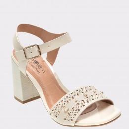 Sandale RAMARIN crem, 1741203, din piele ecologica
