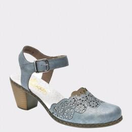 Sandale RIEKER albastre, 40958, din piele naturala