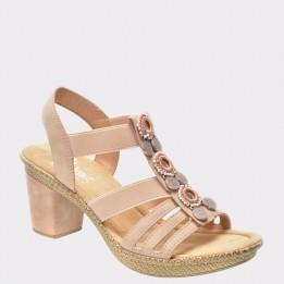 Sandale RIEKER bej, 66527, din piele ecologica